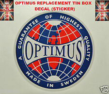 OPTIMUS STOVE REPLACEMENT DECAL STICKER PRIMUS STOVE