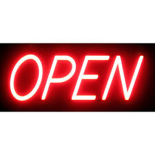 "Optiva 20"" Ultra Bright LED OPEN Sign - Illuminated Business storefront signage"