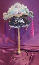 Antique Chinese embroidered festival hat