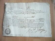 ALBI DOCUMENT LAISSEZ ENTRER PORTE DES CORDELIERS 1816