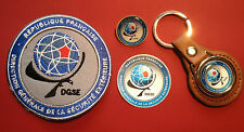 DGSE ( French Secret Police  Agency) KEY RING, BADGE, PATCH +  STICKER SET