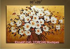 """YH762 30*20""""Hand painted Oil Canvas Wall Art home Decor Abstract flower NO Frame"""