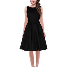 Vintage Audrey Hepburn Style 50's Rockability Swing Dress Sliming Cocktail Party