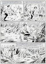 MELLIES : BIGGLES EN AFRIQUE SUPERBE PLANCHE ORIGINALE ARTIMA PAGE 84