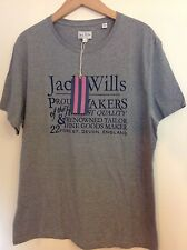 JACK WILLS WENTWORTH T-SHIRT GREY MARL L BNWT