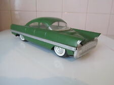 VINTAGE Cadillac Lincoln USSR Tin friction toy green car Elvis Batmobile ~11""