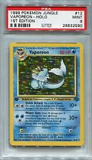 Pokemon Card 1st Edition Vaporeon Holo Jungle Set 12/64, PSA 9 Mint