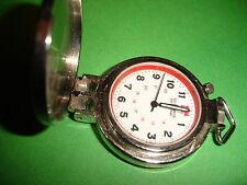 VICTORINOX SWISS ARMY POCKET ALARM  WATCH - NO BOX, NO CHAIN, NO PAPERS - STEEL