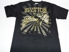 Led Zeppelin Medium M Rock Tee T-Shirt Black Short Sleeve Cotton