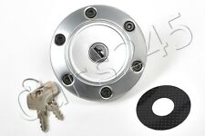 PEUGEOT 205 1983-1999 Silver Locking Fuel Cap with two keys carbon sticker CIBIE