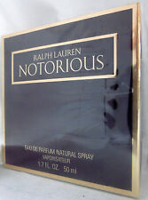 NOTORIOUS RALPH LAUREN 1.7 OZ / 50 ML EDP SPRAY RARE FIND DISCONTINUED WOMEN
