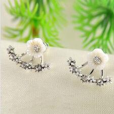 Fashion Women Jewelry Crystal Rhinestone Ear Stud Daisy Flower Earrings