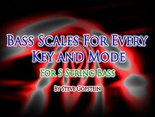 5 STRING BASS GUITAR SCALES ALL MODES & KEYS PDF BOOK
