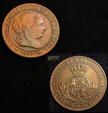 *GUTSE*559-ISABEL II, 2 1/2 CÉNTIMOS DE ESCUDO 1867, BARCELONA OM, MBC+