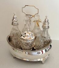 ANTIQUE/BEAUTIFUL STERLING SILVER CRUET/CONDIMENT SET - dated 1801