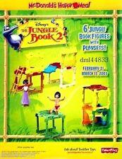 2003 McDonalds Jungle Book 2 MIP Complete Set of 6, Boys & Girls, 3+
