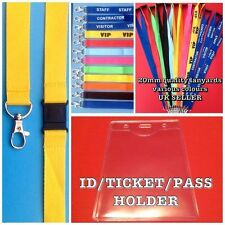 10 Work Plastic Pouch Wallet Ticket vinyl Lanyard ID Security Pass Holder new