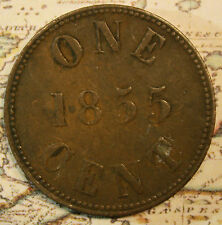 1855 PEI Canada Token ONE CENT - PE-6A3  lot nft018