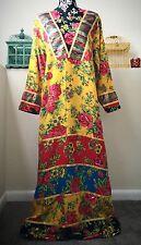 Long India Dress Vtg Vintage Cotton Floral Abaya Hijab 70s Ethnic Gypsy Boho