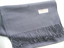 NEW Pashmina Fall Spring Scarf Scarves Silk Gray Solid Shawl Wrap Range Soft 78""