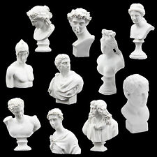 Pack of Ten Plaster Bust Statue Figue White
