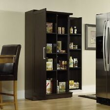 Tall Kitchen Storage Cabinet Food Pantry Wood Shelf Cupboard Office Organizer