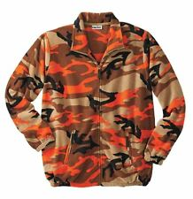 KINGSIZE KING-SIZE ORANGE & KHAKI FLEECE CAMO JACKET MENS 3X 3XL NEW IN PACKAGE
