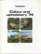 Volvo Colour & Trim 144 145 164 1973-74 original UK folder No. RSP/PV 1073-74