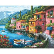 Counted Cross Stitch Kit LAKESIDE VILLAGE Dimensions Gold Collection