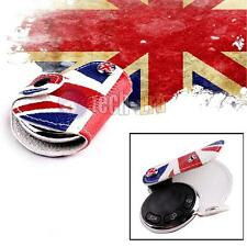 UK Flag Leather Key Fob Holder Cover for 07-13 Mini Cooper S R55~R61 Countryman