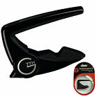 G7th Performance 2 Capo for 6 String Acoustic and Electric Guitars - Black