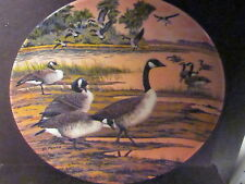 Dominion China WINTER HOME Wings Upon The Wind Ducks  Pentz  Ltd Ed Plate
