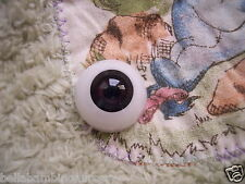 ~EyEcO EyEs PoLyGLaSs Eyes DaRk OriEnTaL 20MM ~ REBORN DOLL SUPPLIES