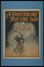 308023 A Sweetheart Just Like Dad 1919 A4 Photo Print