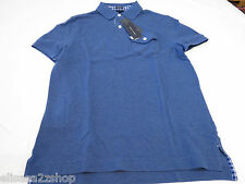 Mens Tommy Hilfiger Polo shirt S slim fit pocket solid 7845162 Kings Blue 404