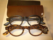 2 PAIR AUTH MONTANA VINTAGE ROUND READING GLASSES READERS BLACK & TORTOISE 1.50
