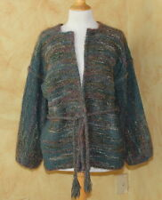 Susan Bosshard Fiber Art-to-Wear Hand Woven Mohair Wool Sweater Jacket OS S M L