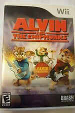 Alvin and the Chipmunks (Nintendo Wii, 2007) video game with case and manual