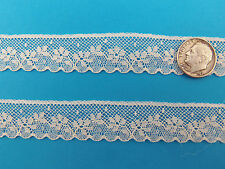 "French Heirloom Cotton Lace Edging--3/4"" Wide Ivory Fashion/Craft/Doll Lace 892I"