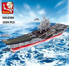 Sluban B0399 Chinese LiaoNing Aircraft Carrier Ship Figures Building Blocks Toy