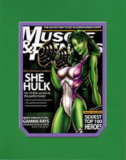 SHE HULK MUSCLE & FITNESS MAG COVER PRINT PROFESSIONALLY MATTED Jamie Tyndall