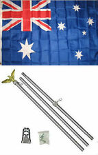 3x5 Australia Australian Flag Aluminum Pole Kit Set 3'x5'