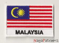 toppa 1506- distintivo ricamato da cucire bandiera Malaysia 70/45 mm