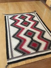 "Antique 29"" x 40""  Diamond Eye Dazzler American Native Navajo Rug/Blanket"