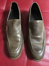 Cole Haan Nike Air Shoes Men Size 10 M Loafers Slip On Leather Upper Olive Waxed