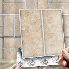 8 Stick & Go Parquet Stone Stick On Wall Tiles For Bathrooms & Kitchens