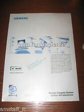 *AM66=SIEMENS COMPUTER=PUBBLICITA'=ADVERTISING=WERBUNG=COUPURE=