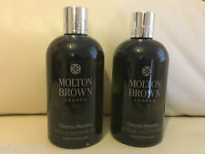 Molton Brown 2 x 300ml Tobacco Absolute Bath & Shower Gel BRAND NEW **LOOK**
