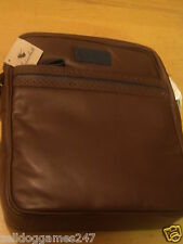 GOODWIN SMITH MEN'S BIGGLESWORTH BROWN LEATHER BAG - BRAND NEW