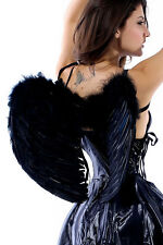 New Feather Black Dark Fallen Angel Fairy Wings Halloween Fancy Dress Gothic